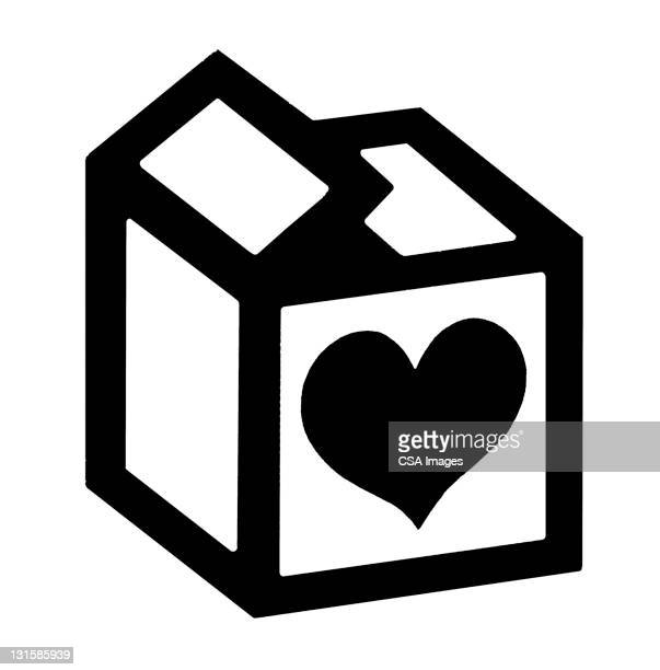 heart on box - giving stock illustrations