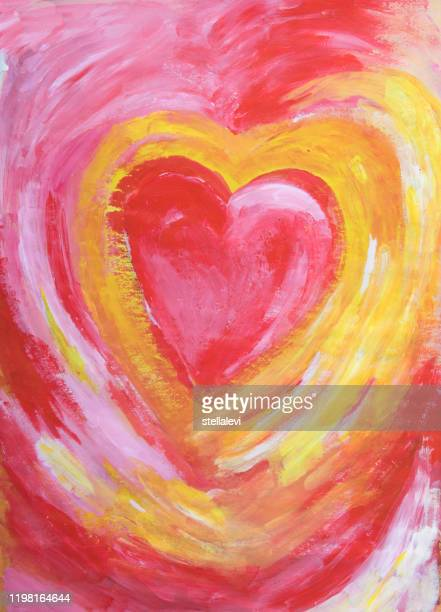 heart painting - stellalevi stock illustrations