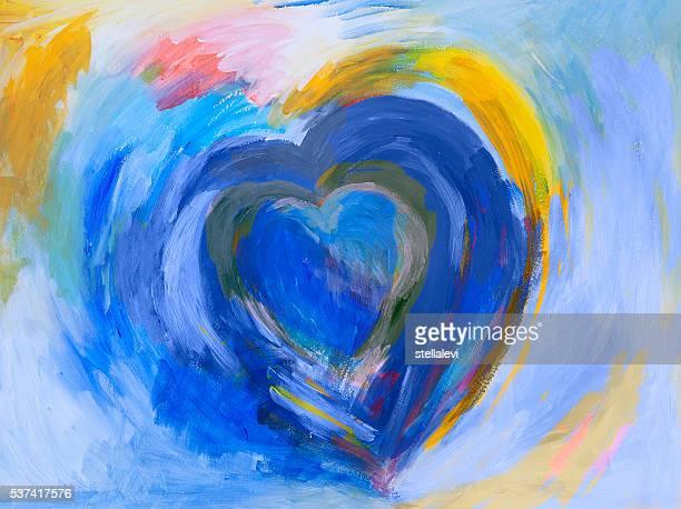 Corazón de pintura