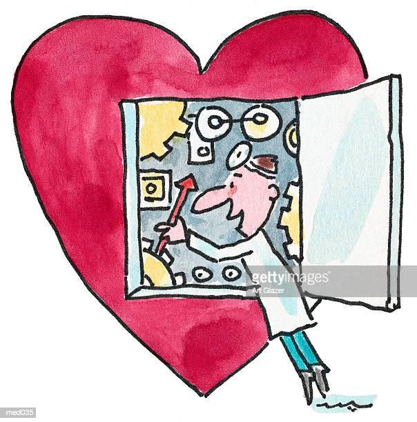heart surgery - cardiologist stock illustrations