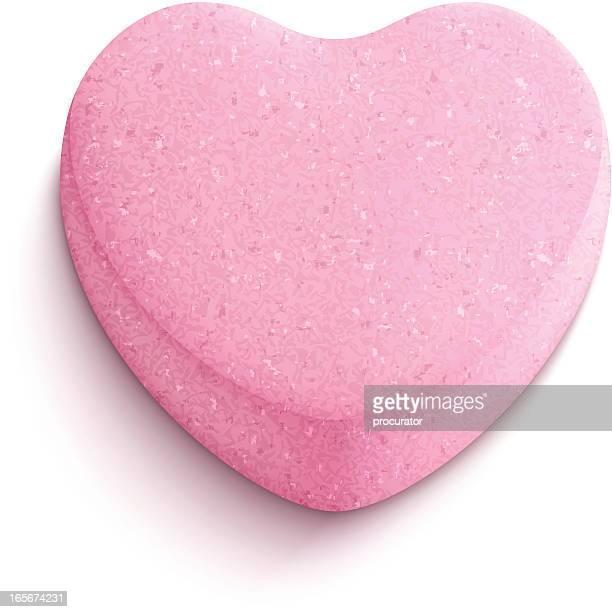 ilustraciones, imágenes clip art, dibujos animados e iconos de stock de en forma de corazón de caramelo - golosina