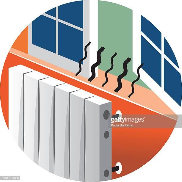 ilustrações de stock, clip art, desenhos animados e ícones de heat escaping from an open window - buchinho