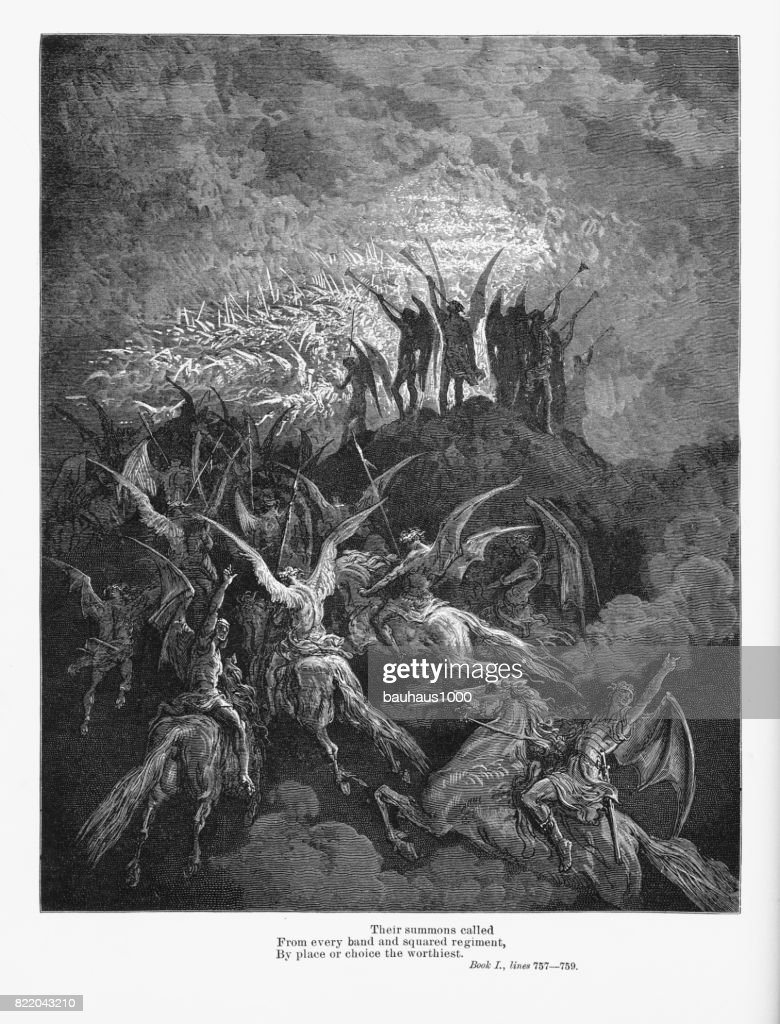 Heavenly Hands Victorian Engraving, 1885 : stock illustration