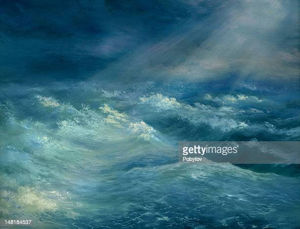 heavy gale - seascape stock illustrations, clip art, cartoons, & icons