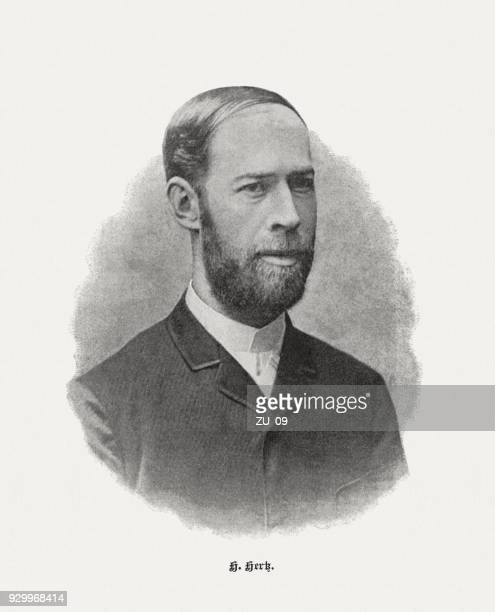 heinrich rudolf hertz (1857-1894), german physicist, published in 1898 - physicist stock illustrations, clip art, cartoons, & icons