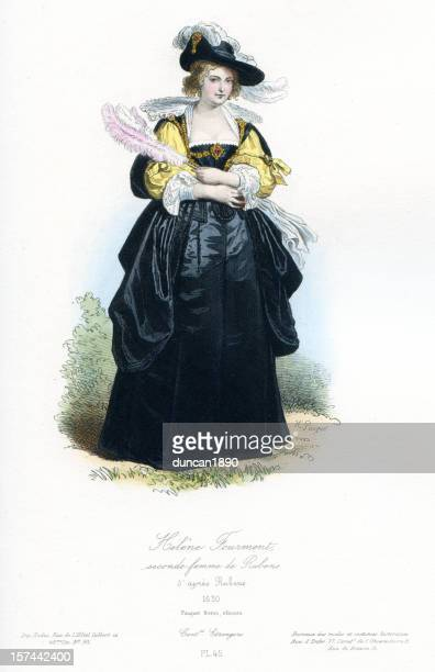 helena fourment second wife of rubens - 17th century stock illustrations, clip art, cartoons, & icons