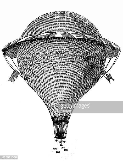 helium balloon flying - hot air balloon stock illustrations, clip art, cartoons, & icons