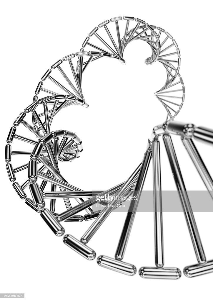 DNA helix made from metallic capsules : Stock Illustration