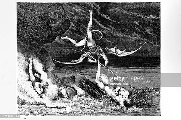 hell - inferno stock illustrations, clip art, cartoons, & icons