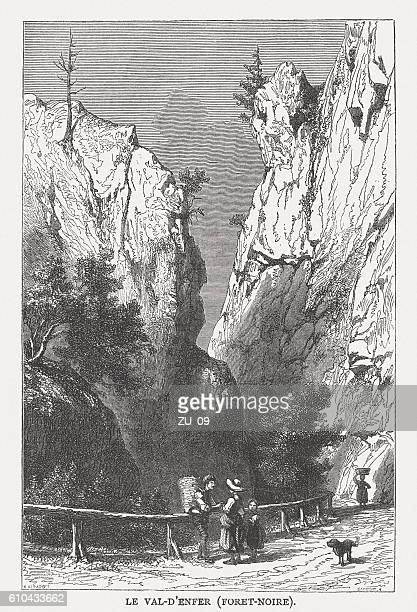 Hell's Valley in Black Forest, Germany, wood engraving, published 1877