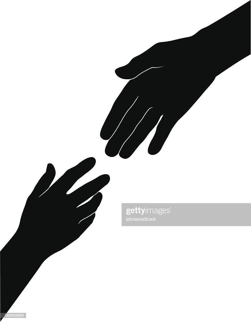 Helfende hand : Stock-Illustration
