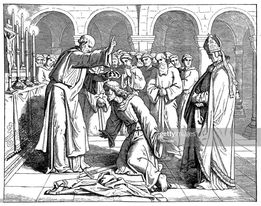 Henry II coronation : stock illustration