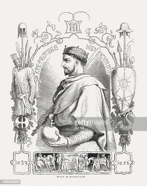 henry iii (1017-1056), holy roman emperor, published in 1876 - holy roman emperor stock illustrations