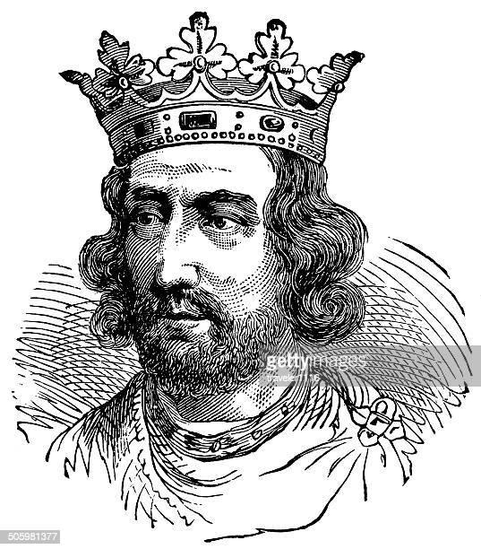 stockillustraties, clipart, cartoons en iconen met henry iii - koning koninklijk persoon