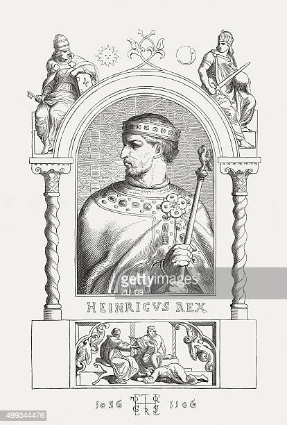 henry iv (1050 - 1106), german emperor, published in 1876 - henri iv of france stock illustrations