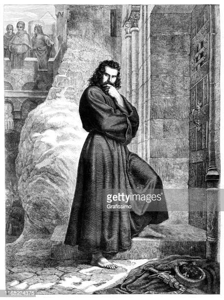 henry iv walk to canossa 1077 - henri iv of france stock illustrations