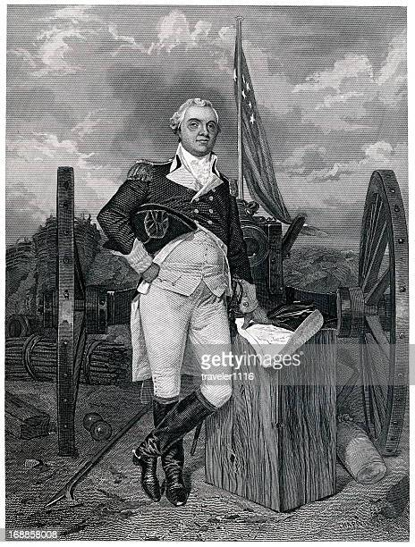 henry knox - us military stock illustrations