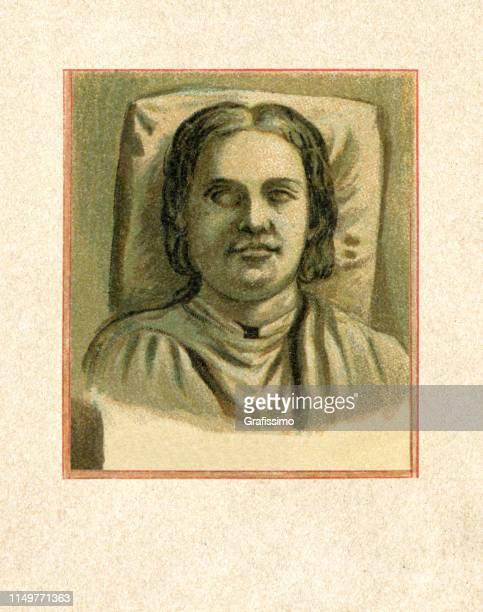 stockillustraties, clipart, cartoons en iconen met henry de leeuw hertog van het portret van beieren - duke