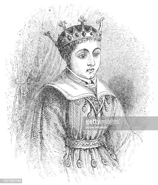 henry v, king of england as a child - henry v of england stock illustrations, clip art, cartoons, & icons