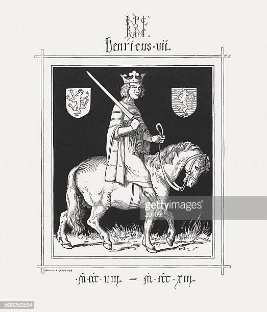 henry vii, holy roman emperor, published in 1876 - emperor stock illustrations, clip art, cartoons, & icons