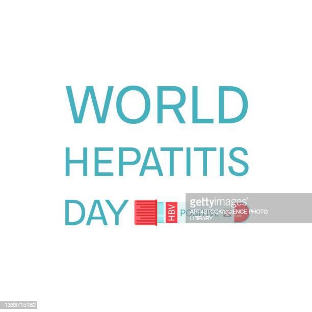 hepatitis awareness, conceptual illustration - hepatitis stock illustrations
