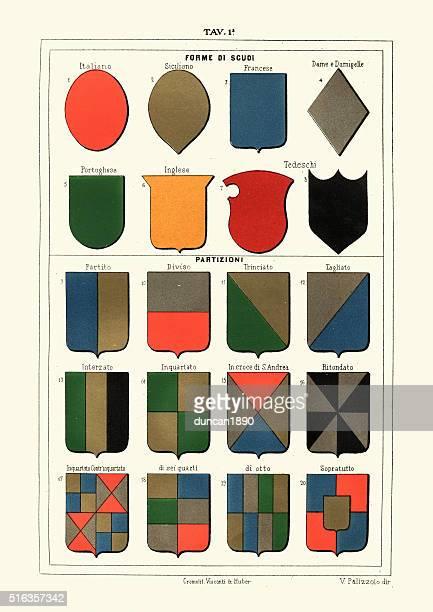 Heraldry - Medieval heraldic shield shapes