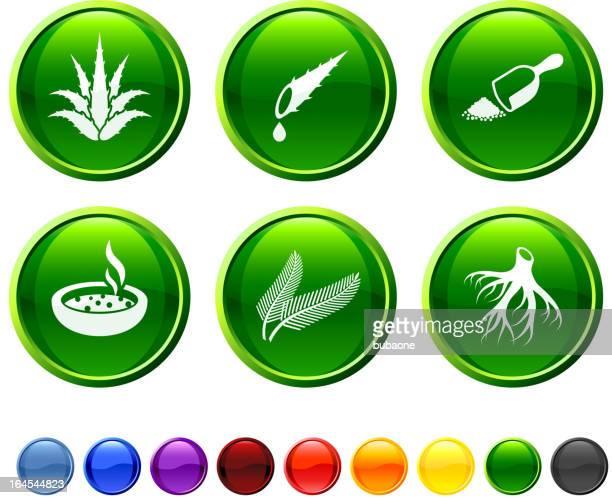 Phytothérapie icon set