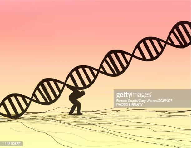 hereditary diseases, conceptual illustration - illness stock illustrations