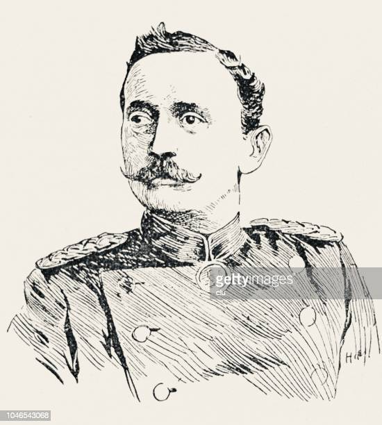 hermann von wissmann, german african researcher, 1853-1905 - 1905 stock illustrations, clip art, cartoons, & icons