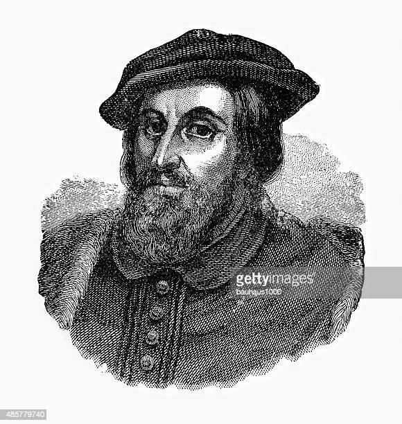 hernando cortes, 1485-1547, engraving - governor stock illustrations, clip art, cartoons, & icons
