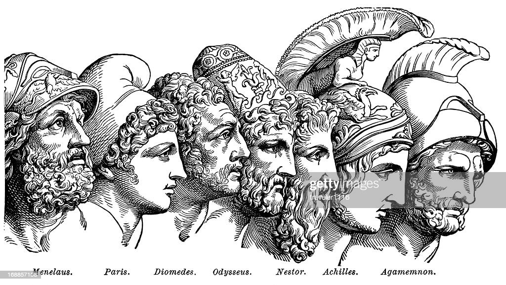 Heroes Of The Trojan War : stock illustration