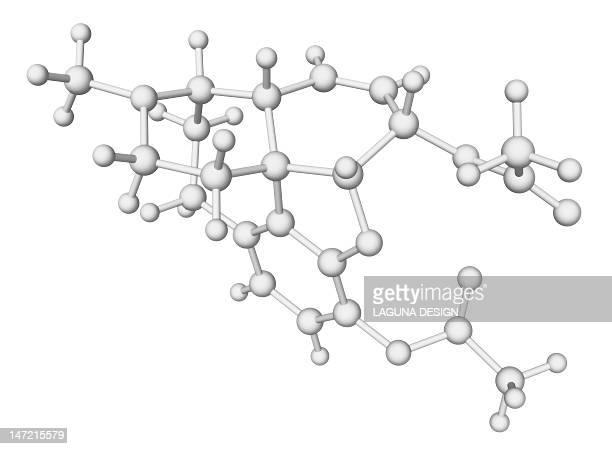heroin drug molecule - heroin stock illustrations, clip art, cartoons, & icons