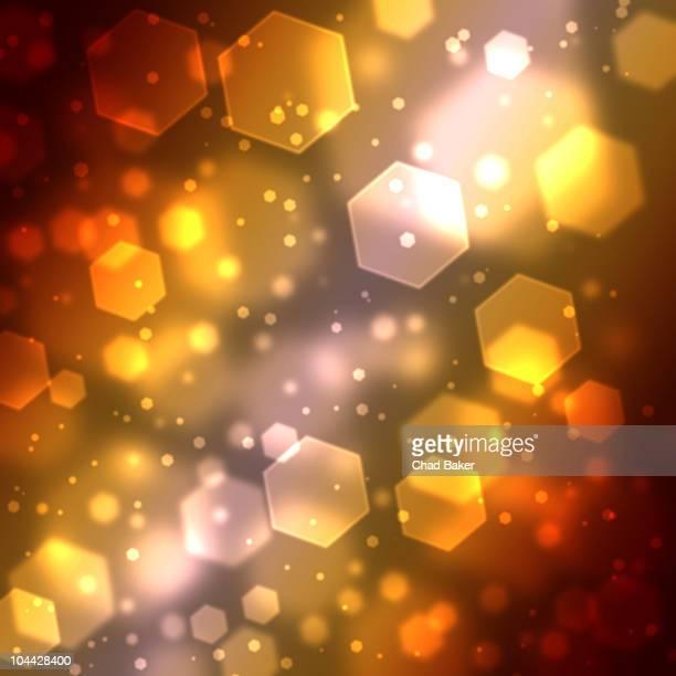 hexagon abstract background with soft focus - weichzeichner stock-grafiken, -clipart, -cartoons und -symbole