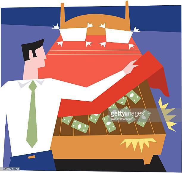 hidden money - mattress stock illustrations, clip art, cartoons, & icons