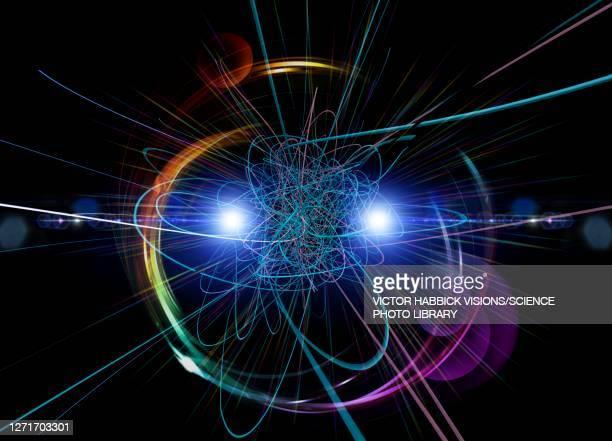 higgs boson, conceptual illustration - physics stock illustrations
