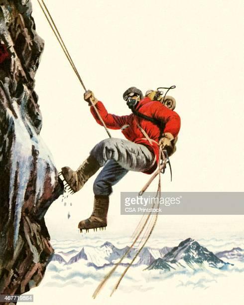 High Altitude Rock Climber
