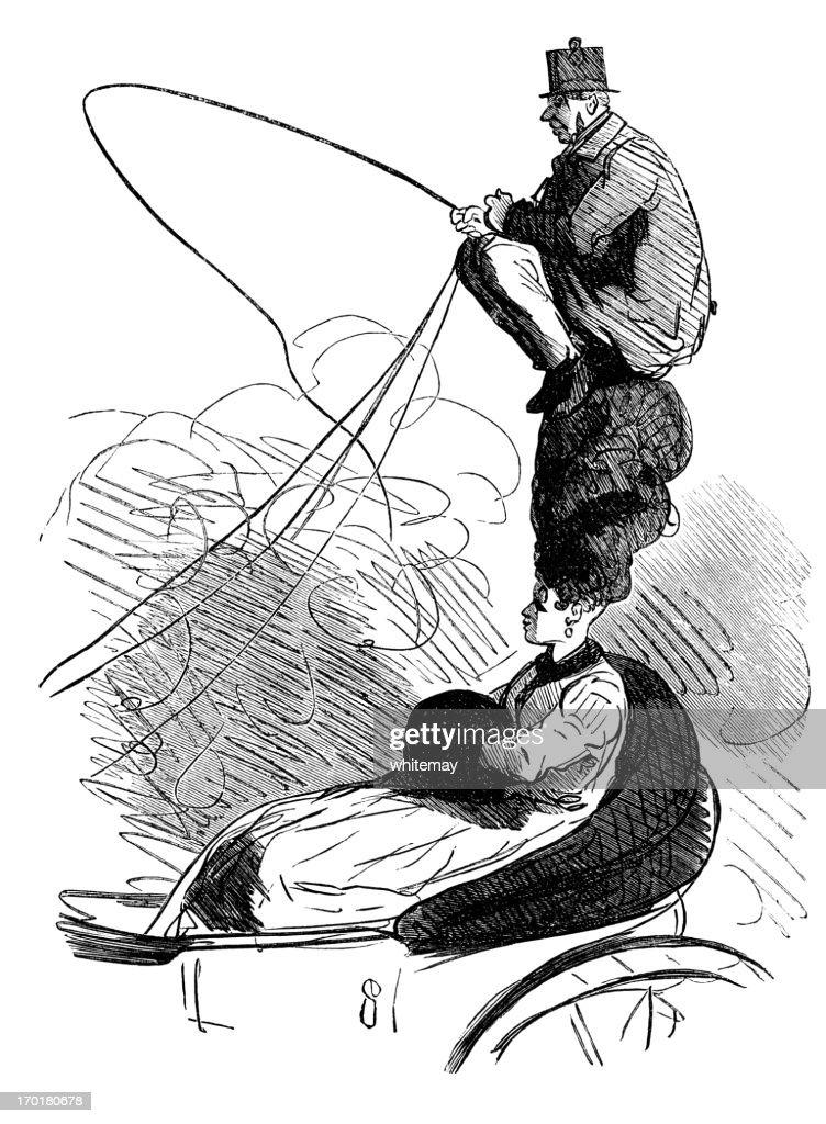 High perch phaeton : stock illustration