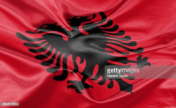 High resolution digital render of Albania flag