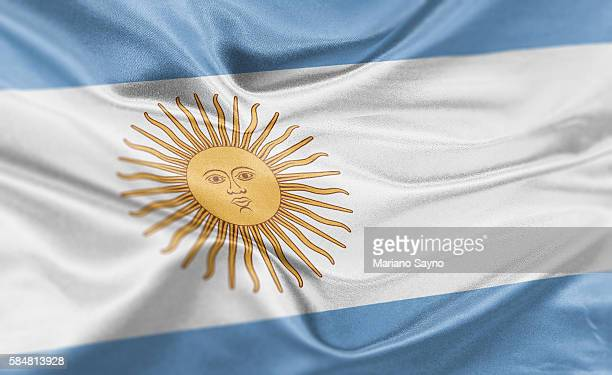 high resolution digital render of argentina flag - argentina stock illustrations