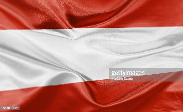high resolution digital render of austria flag - austria stock illustrations