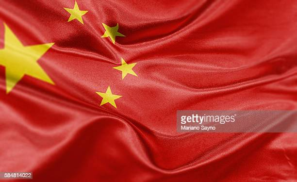 high resolution digital render of china flag - china politics stock illustrations