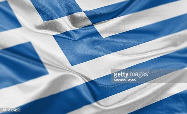 high resolution digital render of greece flag - greece stock illustrations
