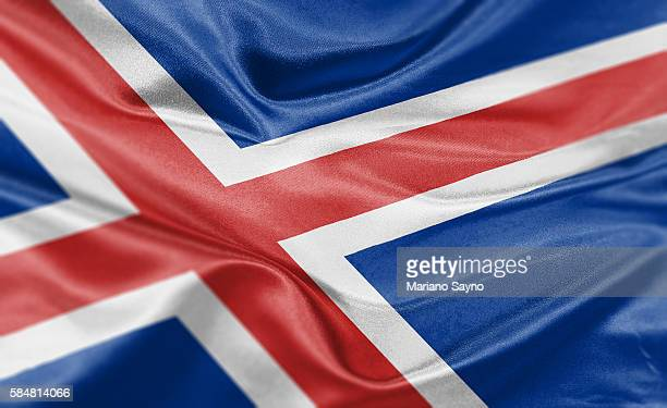 High resolution digital render of Iceland flag