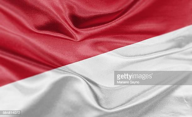 High resolution digital render of Indonesia flag