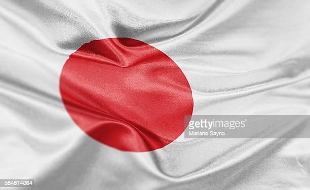 high resolution digital render of japan flag - national flag stock illustrations