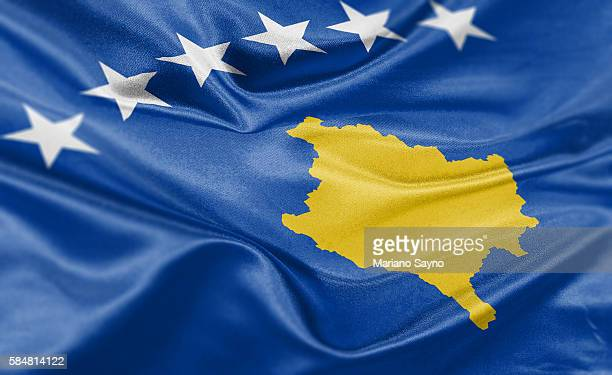 High resolution digital render of Kosovo flag