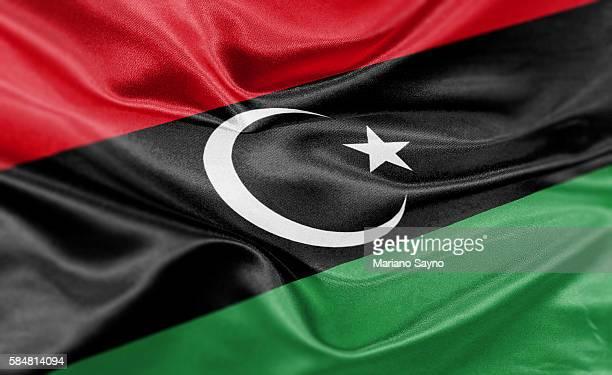 stockillustraties, clipart, cartoons en iconen met high resolution digital render of libya flag - libië