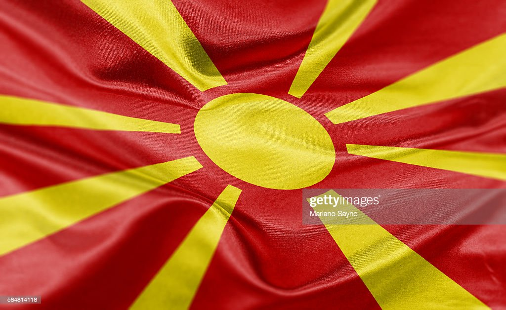High resolution digital render of Macedonia flag : Stock Illustration