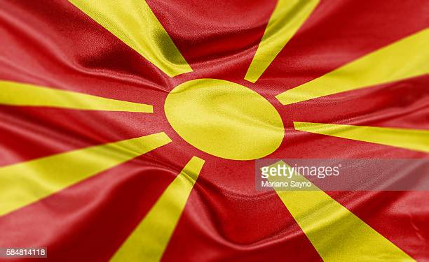 high resolution digital render of macedonia flag - skopje stock illustrations