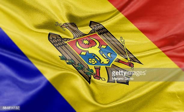 high resolution digital render of moldova flag - moldova stock illustrations